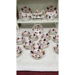 29 pieces of Victorian tea ware (teapot a/f),