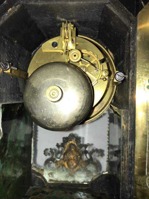 A Victorian Beulle mantel clock in good working order and in good condition with no lifting of - Image 17 of 18