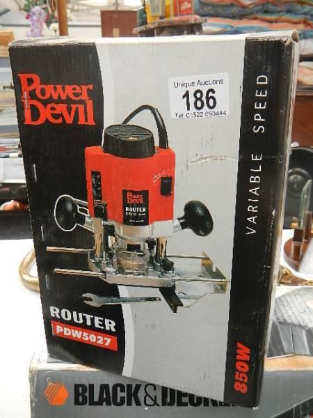 A Power Devil router.