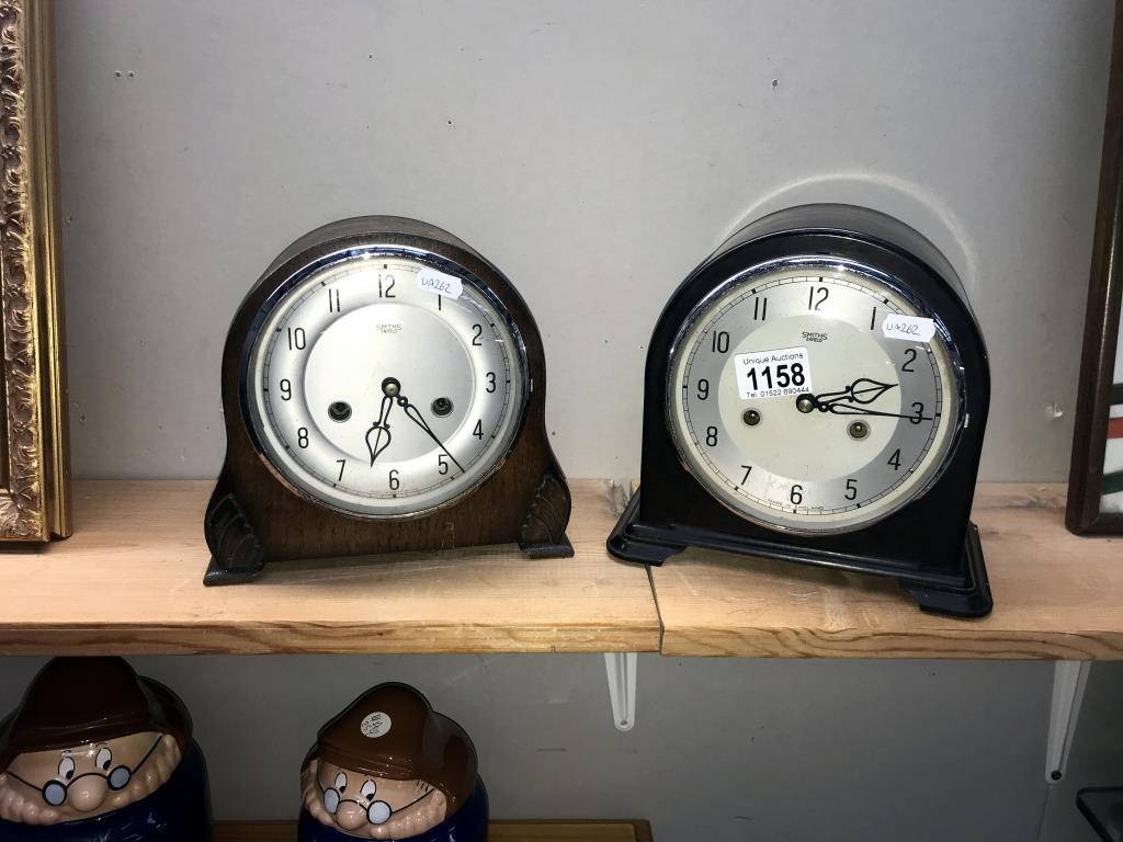 2 x 1930's Smiths mantle clocks,