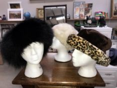 3 stylish Winter hats (Heads not included)