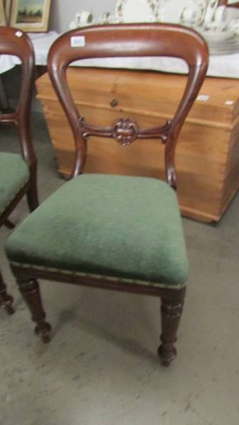 A pair of Victorian mahogany dining chairs. - Image 2 of 2