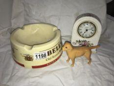 An Aynsley clock,