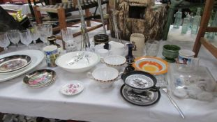 A mixed lot of assorted china and 2 boxes of the same.