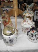2 Staffordshire Scottish figurines, a Staffordshire figure,
