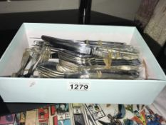 A collection of Viners silverplate cutlery