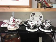 A 14 piece Royal Albert tea set and 12 piece Royal Vale teaset