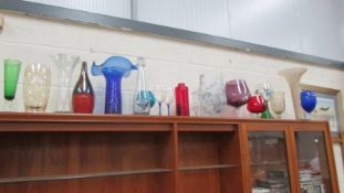 A mixed lot of glass vases and other glass ware,