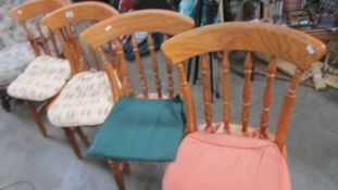 A set of 4 kitchen chairs,