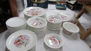 In excess of 50 pieces of Wedgwood dinner ware (unfortunately no teacups) (Collect only)