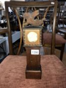 19th century oak pocket watch holder of a Grandfather clock