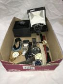 A collection of watches including boxed Accurist,
