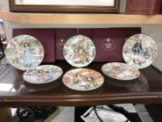 6 boxed Royal Worcester N.S.P.C.C. Christmas plates & 4 unboxed.