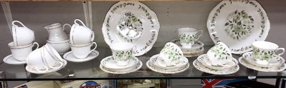 A Colclough & Royal Worcester tea set