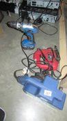 A sander, a jigsaw and a drill,