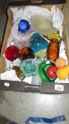 A box of coloured glass.