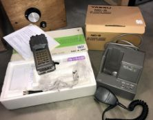 A Yesdu VHF FM handheld transceiver with charger in box (model CS-1830) (Collect only & sold as