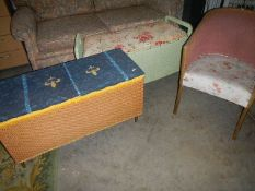 Two ottomans and a bedroom chair. (Collect only).