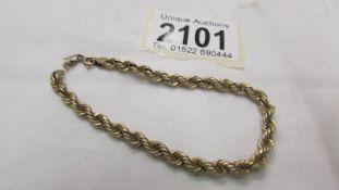 A 9ct gold bracelet, 3.3 grams.