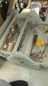 A cantilever tool box and tools (Collect only)