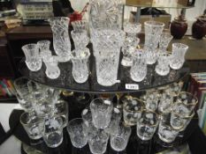 A selection of glasses and vases
