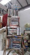 A huge lot of DVD's, Bluray and VHS films.