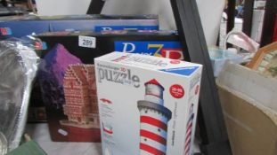Three 3D jigsaw puzzles. completeness unknown.