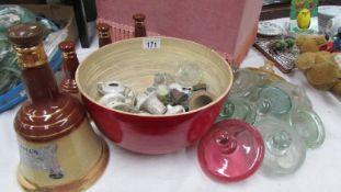$ Wade bells, vintage lids, caps, tops etc.