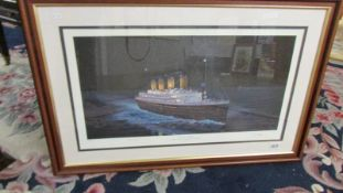 """A framed and glazed limited edition print entitled """"The Last Sighting"""", Titanic mid atlantic 10."""
