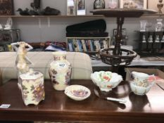 3 pieces of Masons fruit basket ironstone etc. including Aynsley, Queens Virginia bowl etc.