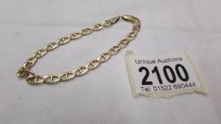 A 14ct gold bracelet, 8.9 grams.