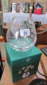A boxed Royal Botanic Gardens crystal bowl.