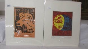 Pablo Picasso (1881-1973) Two plate signed lithographic prints,