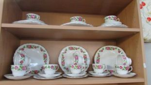 Royal Vale Pink Roses bone china tea and dinner ware