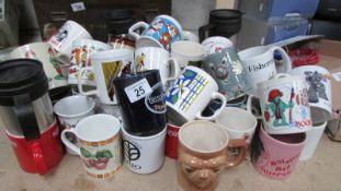 A good lot of assorted mugs.