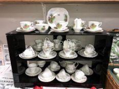 A Melba tea set, Windsor tea set & 1 other tea set etc.