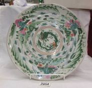 A 19th century hand painted Chinese charger. ****Condition report**** 33.