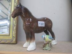 A Beswick horse and a Beswick bird