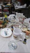 A mixed lot including soup bowls etc.