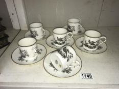 A 12 piece Royal Worcester coffee set