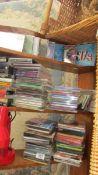 A huge lot of CD's, cassette tapes etc., including 1980's.