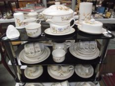 Harvest pattern dinnerware approximately 55 pieces
