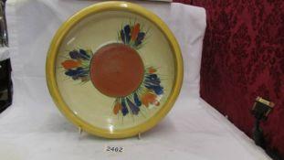 A large Clarice Cliff crocus bowl, 28.5 cm diameter.