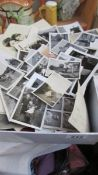 A box of old photographs.