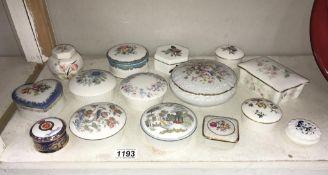 A quantity of trinket pots etc. including Limoges, Wedgwood & Coalport etc.