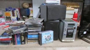 A mixed lot of CD's and a Philip's Incredible surround mini system.