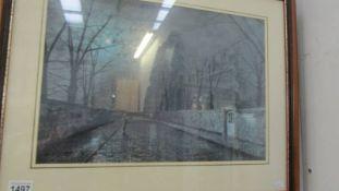 Atkinson Grimshaw (Silver Moonlight) A print dated 1880 framed glazed image 12.