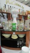 A mixed lot of ceramics and glass including jardiniere on stand, planters, vases etc.