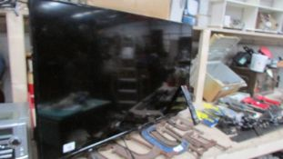 """A JVC television with remote. (Collect only) ****Condition report**** 40"""" screen."""