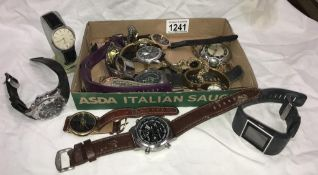 A quantity of good ladies & gents wristwatches